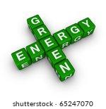 green energy label - stock photo