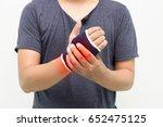 hand injury on white background. | Shutterstock . vector #652475125