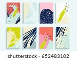 universal abstract posters set. ... | Shutterstock . vector #652483102