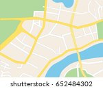 town streets on the plan. flat | Shutterstock .eps vector #652484302