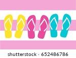 flip flops set vector... | Shutterstock .eps vector #652486786