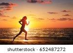 Runner Woman Running In The...