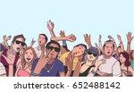 illustration of festival crowd... | Shutterstock .eps vector #652488142