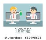 businessman loan photo text... | Shutterstock . vector #652495636