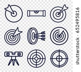 accuracy icons set. set of 9... | Shutterstock .eps vector #652495816