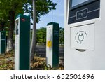 electric vehicle charging... | Shutterstock . vector #652501696