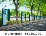 electric vehicle parking | Shutterstock . vector #652501702