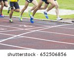 athletes running on the... | Shutterstock . vector #652506856