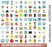 100 software development icons... | Shutterstock .eps vector #652509166