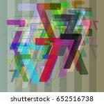 number 7 art texture | Shutterstock .eps vector #652516738