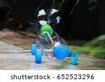 bottle toy  bottle car handmade ... | Shutterstock . vector #652523296