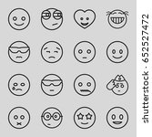emoticon icons set. set of 16... | Shutterstock .eps vector #652527472