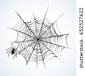 wild grey araneae on mesh... | Shutterstock .eps vector #652527622