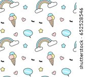 cute colorful seamless vector... | Shutterstock .eps vector #652528546