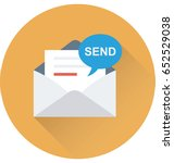 sending email vector icon | Shutterstock .eps vector #652529038