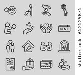holding icons set. set of 16... | Shutterstock .eps vector #652529875