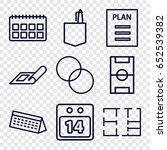 plan icons set. set of 9 plan... | Shutterstock .eps vector #652539382