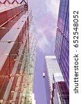 skyscraper from below | Shutterstock . vector #652548052