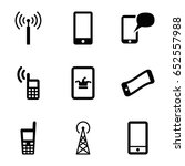 cellular icons set. set of 9... | Shutterstock .eps vector #652557988