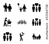 father icons set. set of 9... | Shutterstock .eps vector #652564738
