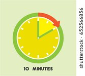 timer icon with red arrow... | Shutterstock .eps vector #652566856