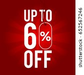 sale up to 60  off on red... | Shutterstock .eps vector #652567246