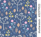 seamless pattern with different ... | Shutterstock .eps vector #652579522