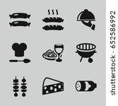 gourmet icons set. set of 9...   Shutterstock .eps vector #652586992