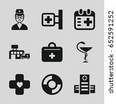 emergency icons set. set of 9... | Shutterstock .eps vector #652591252