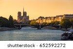 notre dame de paris cathedral ... | Shutterstock . vector #652592272