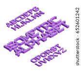 isometric english alphabet.... | Shutterstock .eps vector #652601242
