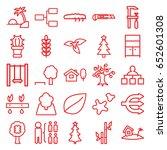 tree icons set. set of 25 tree...   Shutterstock .eps vector #652601308