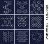 japanese pattern sashiko is a...   Shutterstock .eps vector #652606006