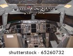 cockpit of a commercial... | Shutterstock . vector #65260732