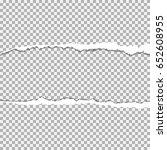 realistic vector torn paper ...   Shutterstock .eps vector #652608955