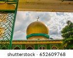 masjid al dahab on the...   Shutterstock . vector #652609768