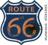 vintage route sixty six road... | Shutterstock .eps vector #652613662