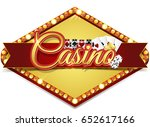 casino banner with chips and... | Shutterstock . vector #652617166