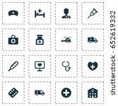 antibiotic icons set.... | Shutterstock .eps vector #652619332