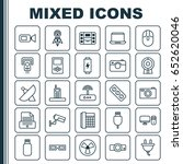 hardware icons set. collection... | Shutterstock .eps vector #652620046