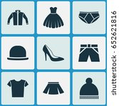 garment icons set. collection... | Shutterstock .eps vector #652621816
