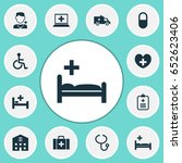medicine icons set. collection... | Shutterstock .eps vector #652623406