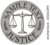 Scales Of Justice Seal  Symbol