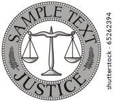 Scales Of Justice Seal  Symbol