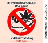 international day against drug... | Shutterstock .eps vector #652628272