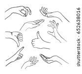 doodle hands vector | Shutterstock .eps vector #652638016