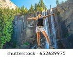 Hiking Woman Freedom In...