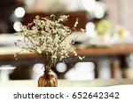 vintage flower  on the table ... | Shutterstock . vector #652642342