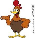 happy cartoon chicken standing...