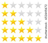 five star rating. different... | Shutterstock .eps vector #652645672